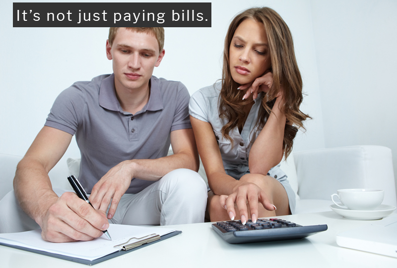 budgeting and paying bills